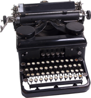Contact Us Vintage Typewriter